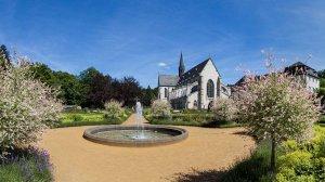 Barockgarten mit Abteikirche