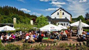 Marienstätter Brauhaus mit Biergarten