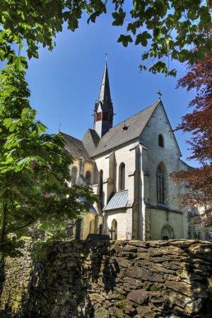 Blick aus dem Mönchgarten zur Abteikirche