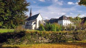 Herbststimmung Abteikirche
