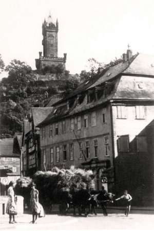 Blick vom Obertor zum Wilhelmsturm