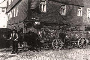 Gaststätte zum Obertor und Holztransport (um 1900)