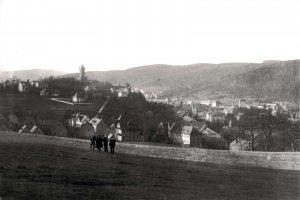 Blick vom Mittelfeld zum Schlossberg