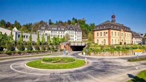 Kreisverkehr zur Einfahrt Schlossbergtunnel