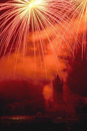 Feuerwerk am Wilhelmsturm